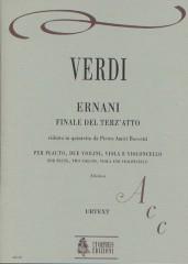 Verdi, Giuseppe : Ernani. Finale Atto III transcribed by Pietro Amici Boccetti for Flute, 2 Violins, Viola and Violoncello