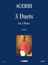 Acerbi, Giuseppe : 3 Duets for 2 Flutes