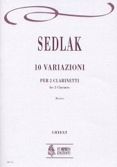 Sedlak, Wenzel : 10 Variations for 2 Clarinets