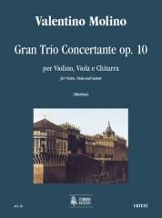 Molino, Valentino : Gran Trio Concertante Op. 10 for Violin, Viola and Guitar