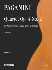 Paganini, Niccolò : Quartet Op. 4 No. 2 for Violin, Viola, Guitar and Violoncello