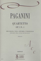 Paganini, Niccolò : Quartet Op. 5 No. 1 for Violin, Viola, Guitar and Violoncello
