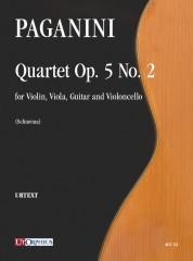 Paganini, Niccolò : Quartet Op. 5 No. 2 for Violin, Viola, Guitar and Violoncello