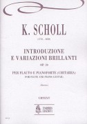 Scholl, Karol : Introduzione e Variazioni Brillanti Op. 20 for Flute and Piano (Guitar)