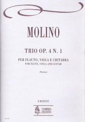Molino, Francesco : Trio Op. 4 No. 1 for Flute, Viola and Guitar