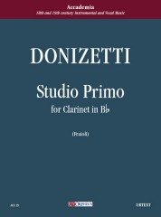 Donizetti, Gaetano : Studio primo for Clarinet in B flat
