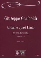 Gariboldi, Giuseppe : Andante quasi Lento for 4 Clarinets in B flat