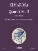 Cimarosa, Domenico : Quartet No. 2 in G Major for Oboe (Flute), Violin, Viola and Violoncello