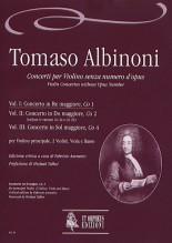 Albinoni, Tomaso : Violin Concertos without Opus Number for principal Violin, 2 Violins, Viola and Basso - Vol. 1: Concerto in D major, Co 1 [Score]