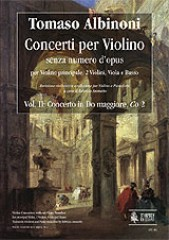 Albinoni, Tomaso : Violin Concertos without Opus Number for principal Violin, 2 Violins, Viola and Basso - Vol. 2: Concerto in C major, Co 2 (with variants Co 2a and Co 2b) [Piano Reduction]