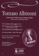 Albinoni, Tomaso : Violin Concertos without Opus Number for principal Violin, 2 Violins, Viola and Basso - Vol. 3: Concerto in G major, Co 4 [Score]