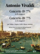 Vivaldi, Antonio : Concerto RV 774 in C Major - Concerto RV 775 in F Major for Violin, Organ, Strings and Continuo [Score]
