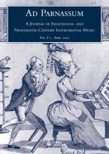 Ad Parnassum. A Journal on Eighteenth- and Nineteenth-Century Instrumental Music - Vol. 1 - No. 1 - April 2003