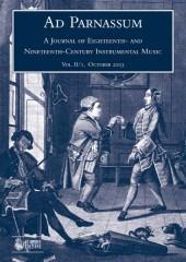 Ad Parnassum. A Journal on Eighteenth- and Nineteenth-Century Instrumental Music - Vol. 1 - No. 2 - October 2003