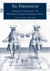 Ad Parnassum. A Journal on Eighteenth- and Nineteenth-Century Instrumental Music - Vol. 2 - No. 3 - April 2004