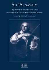 Ad Parnassum. A Journal on Eighteenth- and Nineteenth-Century Instrumental Music - Vol. 4 - No. 8 - October 2006