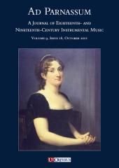 Ad Parnassum. A Journal on Eighteenth- and Nineteenth-Century Instrumental Music - Vol. 9 - No. 18 - October 2011