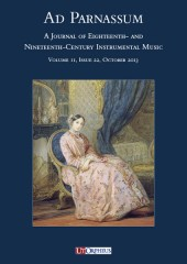 Ad Parnassum. A Journal on Eighteenth- and Nineteenth-Century Instrumental Music - Vol. 11 - No. 22 - October 2013