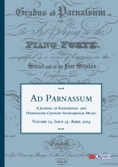 Ad Parnassum. A Journal on Eighteenth- and Nineteenth-Century Instrumental Music - Vol. 12 - No. 23 - April 2014
