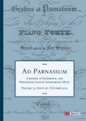 Ad Parnassum. A Journal on Eighteenth- and Nineteenth-Century Instrumental Music - Vol. 13 - No. 26 - October 2015