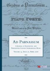 Ad Parnassum. A Journal on Eighteenth- and Nineteenth-Century Instrumental Music - Vol. 14 - No. 27 - April 2016