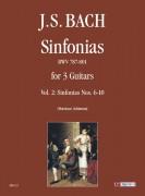 Bach, Johann Sebastian : Sinfonias BWV 787-801 for 3 Guitars - Vol. 2: Sinfonias Nos. 6-10