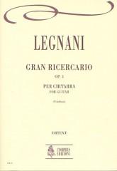Legnani, Luigi : Gran Ricercario Op. 3 for Guitar