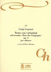 """Legnani, Luigi : Theme and Variations on the Terzetto """"Pria che l'impegno"""" Op. 4 for Guitar"""