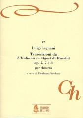 "Legnani, Luigi : Transcriptions from Rossini's ""L'Italiana in Algeri"" Opp. 5, 7 and 8 for Guitar"