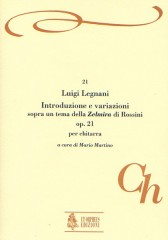"""Legnani, Luigi : Introduction and Variations on a theme from Rossini's """"Zelmira"""" Op. 21 for Guitar"""