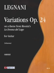 "Legnani, Luigi : Variations on a theme from Rossini's ""La Donna del Lago"" Op. 24 for Guitar"