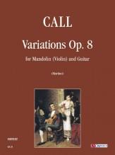Call, Leonhard von : Variations Op. 8 for Mandolin (Violin) and Guitar