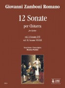 Zamboni Romano, Giovanni : 12 Sonatas for Guitar - Vol. 1: Sonatas Nos. 1-6