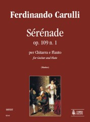 Carulli, Ferdinando : Sérénade Op. 109 No. 1 for Guitar and Flute