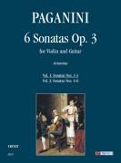 Paganini, Niccolò : 6 Sonatas Op. 3 for Violin and Guitar - Vol. 1: Sonatas Nos. 1-3
