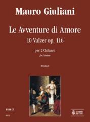 Giuliani, Mauro : Le Avventure di Amore. 10 Waltzes Op. 116 for 2 Guitars