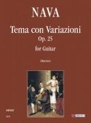 Nava, Antonio : Tema con Variazioni Op. 25 for Guitar