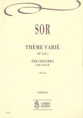 Sor, Fernando : Thème Varié Op. 15(c) for Guitar