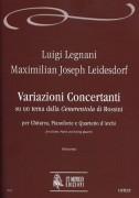 "Legnani, Luigi - Leidesdorf, Maximilian Joseph : Variazioni Concertanti on a theme from Rossini's ""Cenerentola"" for Guitar, Piano and String Quartet [Score]"
