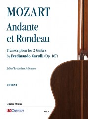 Mozart, Wolfgang Amadeus : Andante et Rondeau transcribed for 2 Guitars by Ferdinando Carulli (Op. 167)