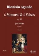 Aguado, Dionisio : 6 Menuets & 6 Valses Op. 12 for Guitar