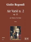 Regondi, Giulio : Air Varié No. 2 Op. 22 for Guitar