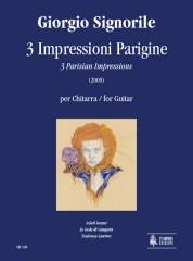 Signorile, Giorgio : 3 Impressioni Parigine (3 Parisian Impressions) for Guitar (2009)