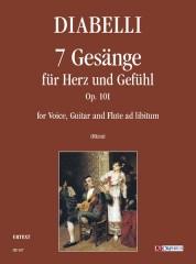 Diabelli, Anton : 7 Gesänge für Herz und Gefühl Op. 101 for Voice, Guitar and Flute ad libitum