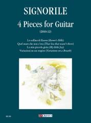 Signorile, Giorgio : 4 Pieces for Guitar (2010-12)