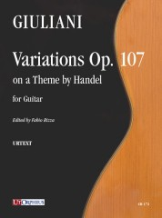Giuliani, Mauro : Variations Op. 107 on a Theme by Handel for Guitar