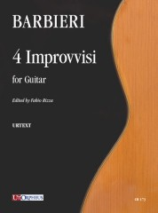 Barbieri, Girolamo : 4 Improvvisi for Guitar