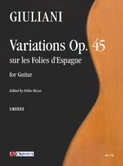 Giuliani, Mauro : Variations Op. 45 sur les Folies d'Espagne for Guitar