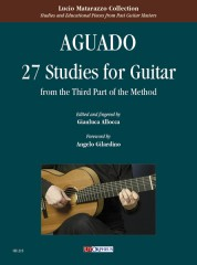 Aguado, Dionisio : 27 Studies for Guitar (from the Third Part of the Method)