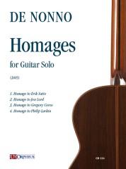 de Nonno, Carlo : Homages for Guitar Solo (2015)
